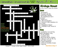 Cannabis Crosswords by William Malott